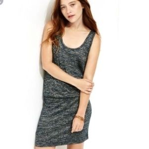 Lou & Grey Tank Dress Black space dye blouson